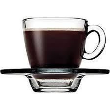 AQUA Чашка для кофе с блюдцем, 72 мл (h=59мм,d=58мм) 95756