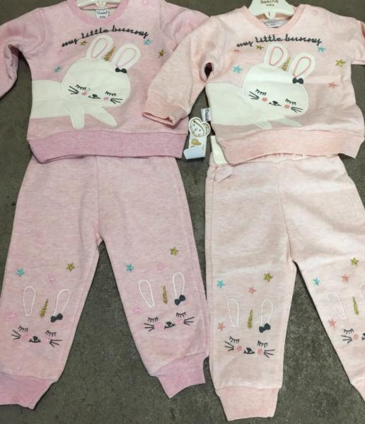 Кофта и штанишки Зайчики 6-24 месяца