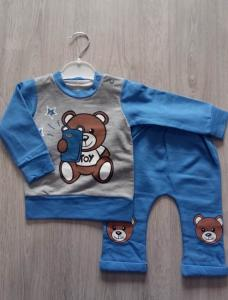 Фото Костюмы, комбинезоны, человечки (0-2года) Кофточка и штанишки Мишка 6-18 месяцев