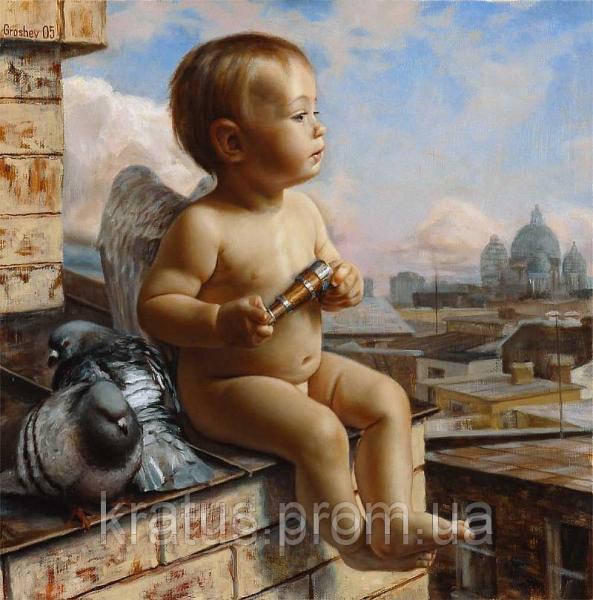 Фото Картины на холсте по номерам, Дети на картине MS 049