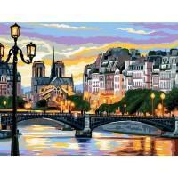 Фото Картины на холсте по номерам, Городской пейзаж VK 200