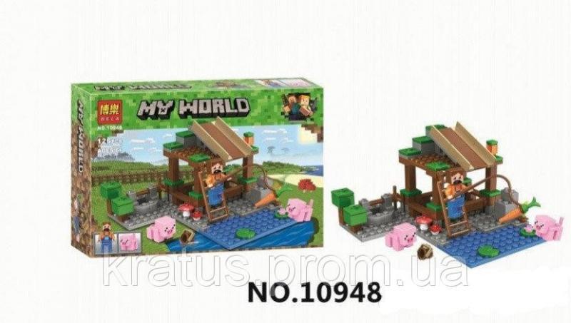 10948 Конструктор Bela Мини Ферма(аналог Lego Майнкрафт, Minecraft), 126 дет