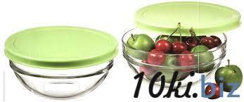 CHEF'S Салатник с зеленой крышкой, h=63мм,d=140мм 53553к купить в Херсоне - Салатницы