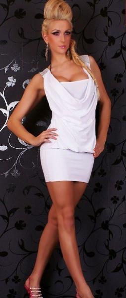 Фото Женские платья Платье Водопад р42 белое