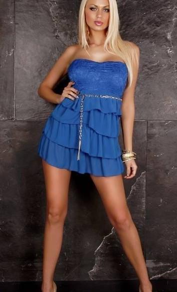 Платье Вояж р42 синее