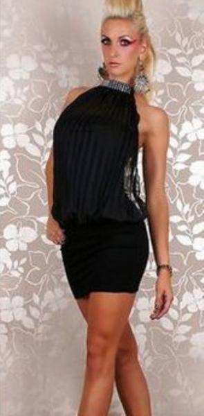 Платье Гофре р44 черное