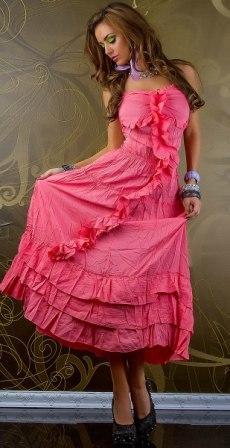 Платье Кармен р46 коралл