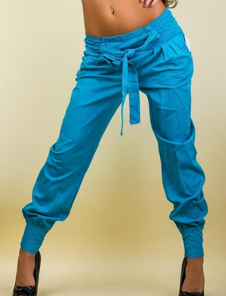 Фото Брюки женские Брюки на манжете р42 голубые