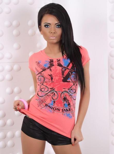 Фото Женские футболки Футболка р42 коралловая