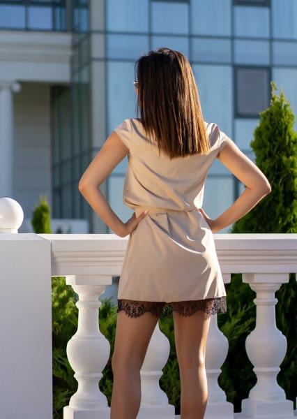 Фото Женские платья Платье с кружевом GF0970 р44 капучино