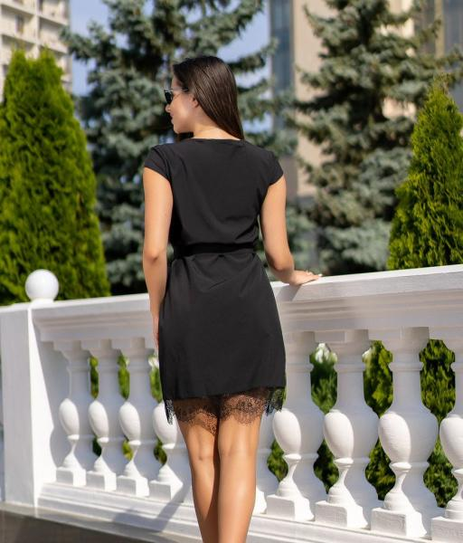Фото Женские платья Платье с кружевом GF0970 р42 черное