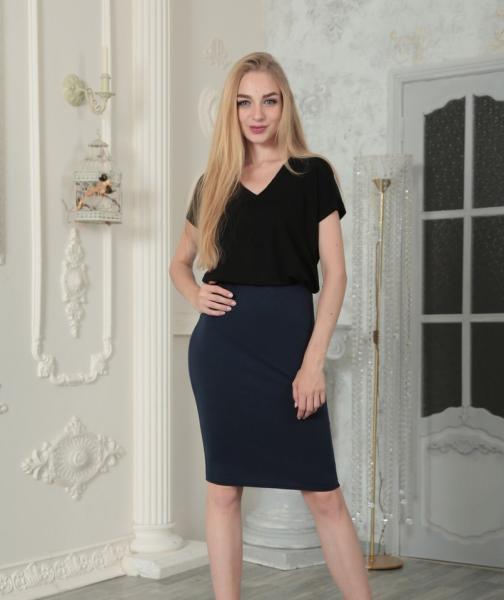 Фото Женские юбки Юбка миди GF0212 р44 темно-синяя