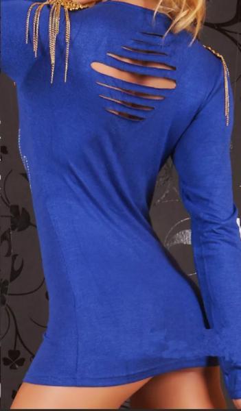 Фото Женские туники Туника с погончиками р46 синяя