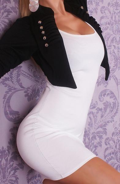 Фото Женские платья Платье с болеро р44 черно-белое