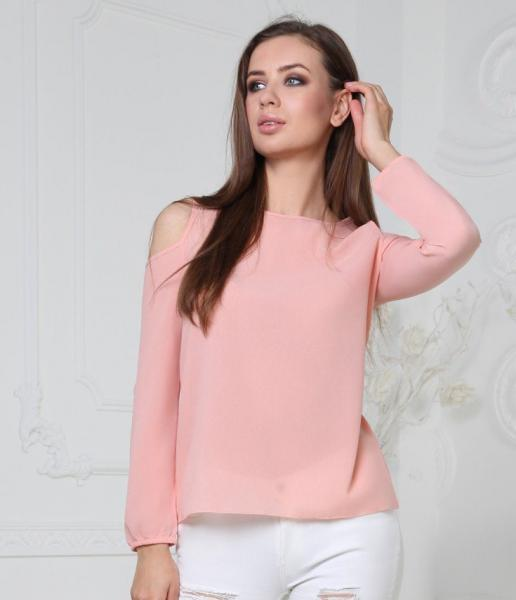 Фото Женские блузы Блуза 48р персиковая