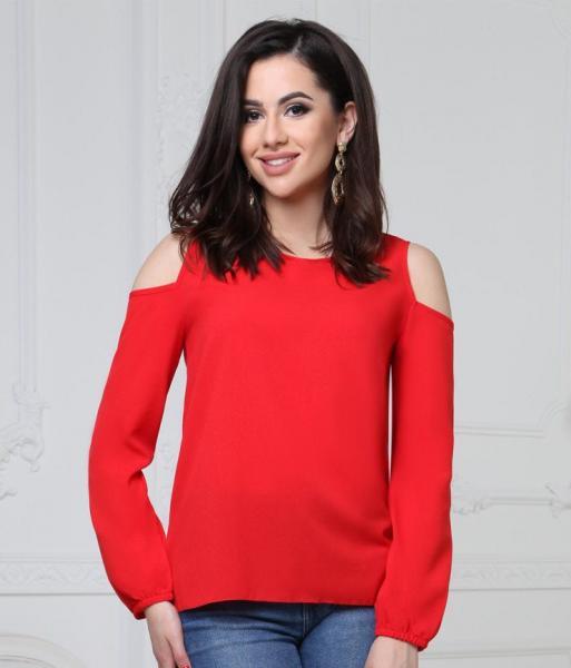 Фото Женские блузы Блуза 48р красная