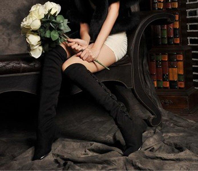 Фото Женские сапоги, ботфорты Сапоги р36 черные