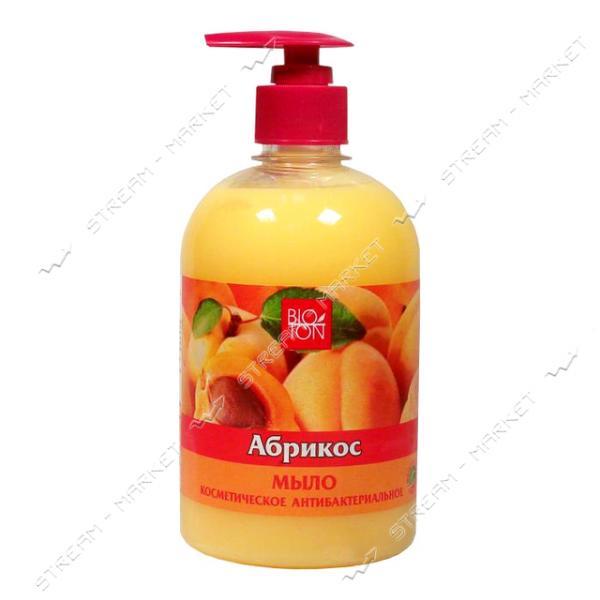 Мыло косметическое антибактериальное Bioton Cosmetics Абрикос с дозатором 500 мл