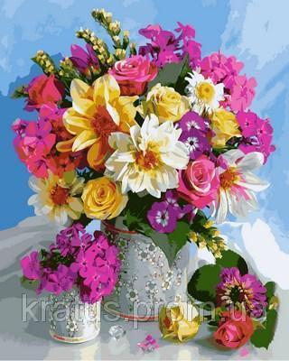 Фото Картины на холсте по номерам, Букеты, Цветы, Натюрморты VP804