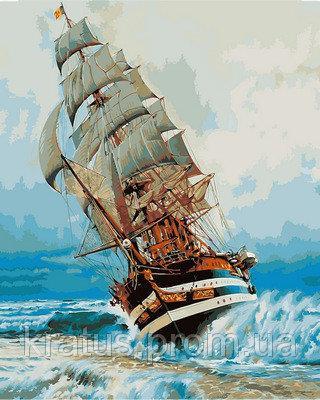 Фото Картины на холсте по номерам, Морской пейзаж VP887 Картина по номерам 40х50см