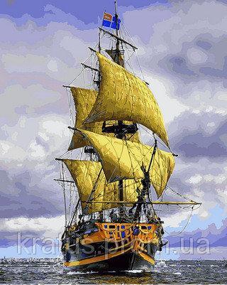 Фото Картины на холсте по номерам, Морской пейзаж VP888 Картина по номерам 40х50см