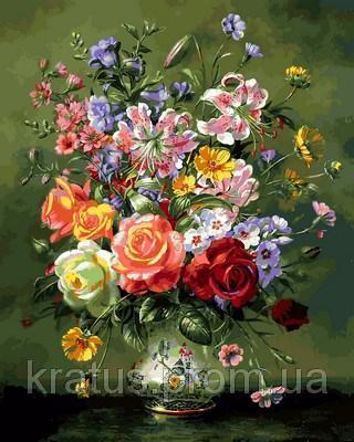 Фото Картины на холсте по номерам, Букеты, Цветы, Натюрморты VP 1054