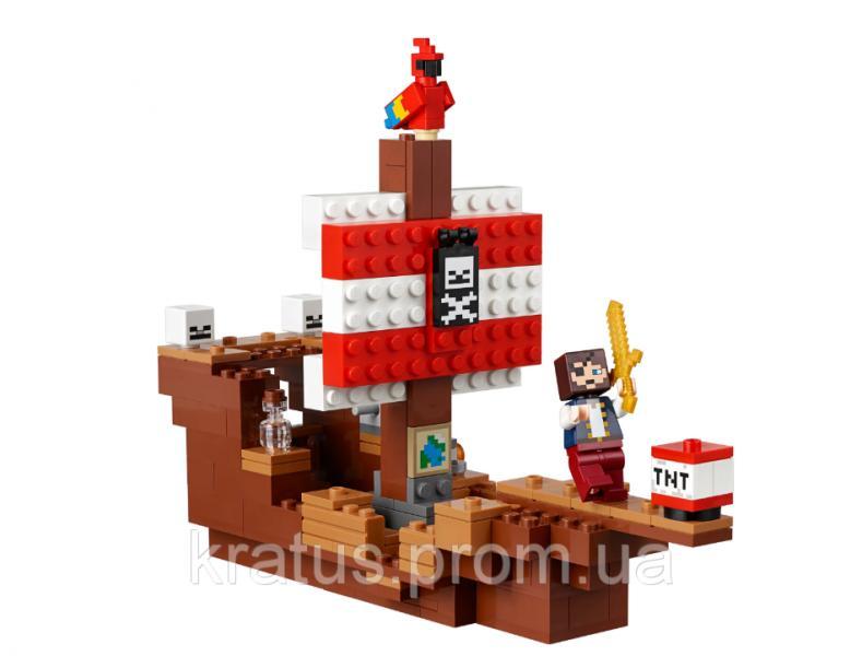Фото Конструкторы, Конструкторы типа «Лего», Майнкрафт (minecraft) 18044 Конструктор LEPIN MINECRAFT - Приключения на пиратском корабле (433 дет.)