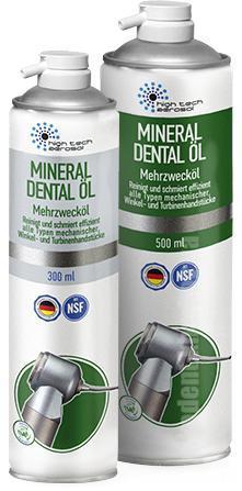 Фото Для стоматологических клиник, Аксессуары Смазка - спрей  MINERAL DENTAL ÖL (Германия) 300мл / 500мл