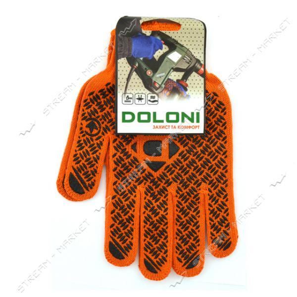 Перчатки DOLONI арт.4470 х/б с ПВХ покрытием оранжевые