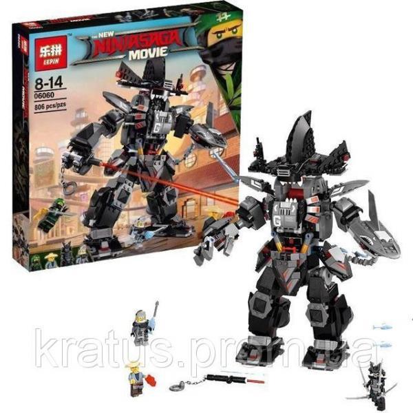 """06060/10719 Конструктор Ninjago Movie Lepin/Bela (аналог Lego 70613) """"Робот Гарм"""" 806 дет./774"""