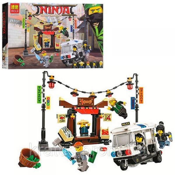 """10714 Конструктор Bela Ninjago Movie (аналог Lego 70607) """"Ограбление киоска в Ниндзяго Сити"""" 263 дет."""