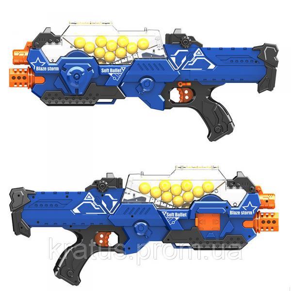 Фото Игрушечное Оружие, Стреляет поролоновыми пульками, снарядами, шариками, стрелами и т. д. Бластер пулемет Blaze Storm 20 шариков Zecong Toys ZC 7109