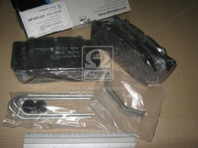 Колодка торм. диск. E-BRAKE (компл. на ось) BPW, DAF XF95, IVECO, MB ACTROS, SAF (Winnard WP988E)