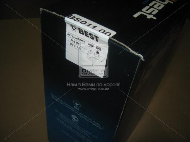 Колодка торм. ГАЗ 3302 задн. (компл. 4шт.) (пр-во BEST 3302-3502090)