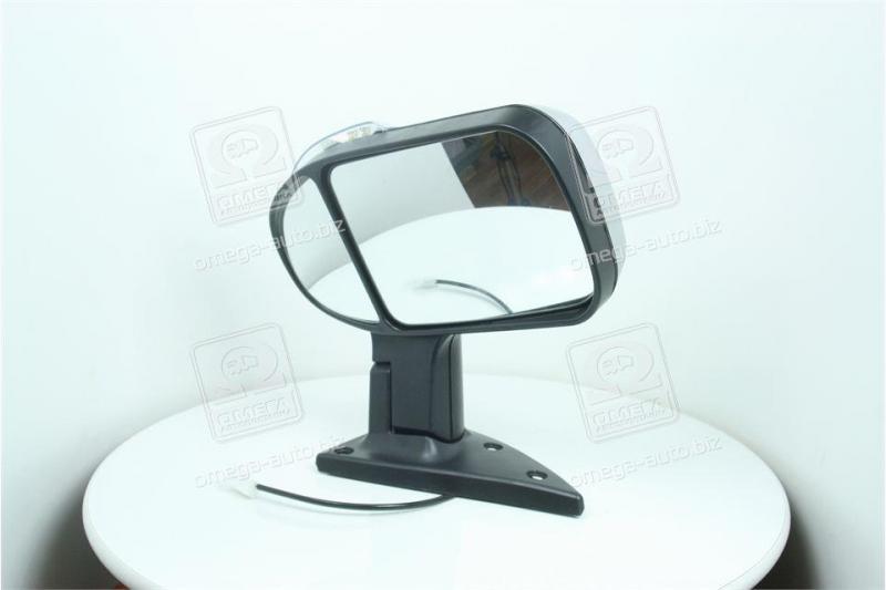Зеркало боковое ГАЗ 3302 нов. обр. с поворот. лев. серебрист.