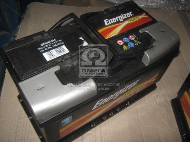 Аккумулятор 80Ah-12v Energizer Prem.(315х175х175), R,EN740