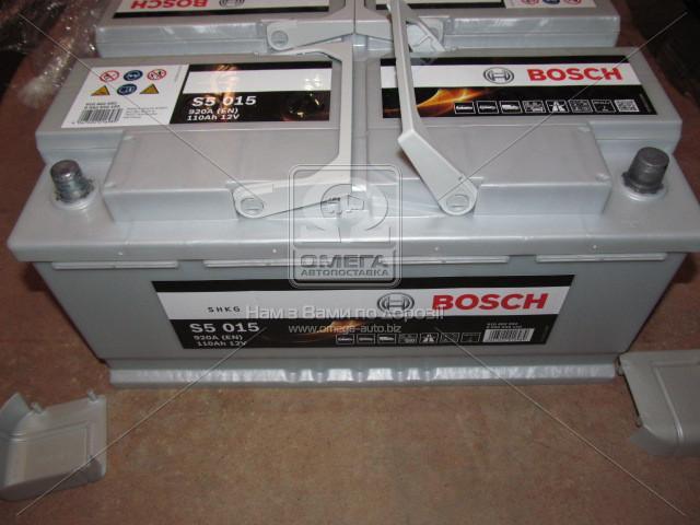 Аккумулятор 110Ah-12v BOSCH (S5015) (393x175x190),R,EN920