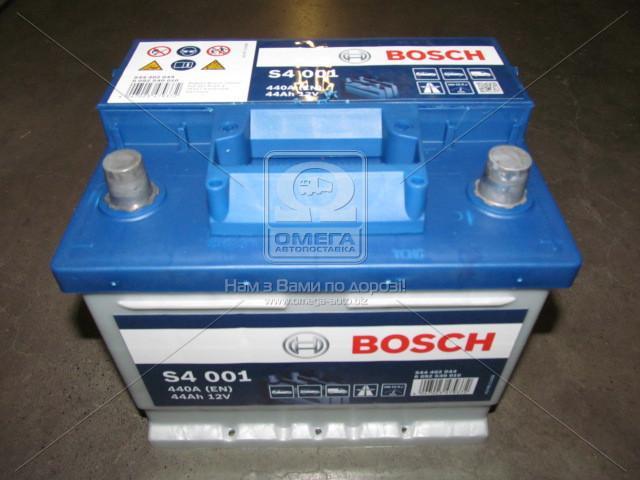 Аккумулятор 44Ah-12v BOSCH (S4001) (207x175x175),R,EN440