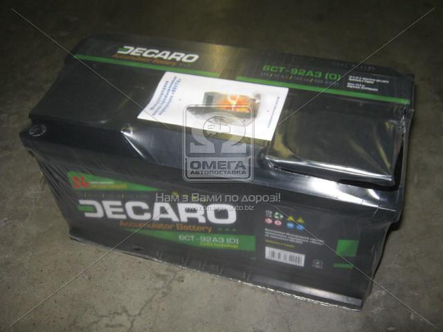 Аккумулятор 92Ah-12v DECARO (353х175х190),(0 R),EN800