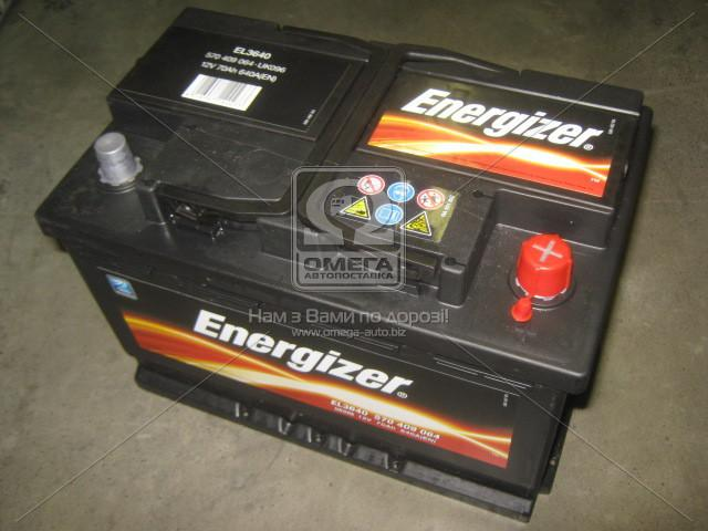 Аккумулятор 70Ah-12v Energizer (278х175х190), R,EN640