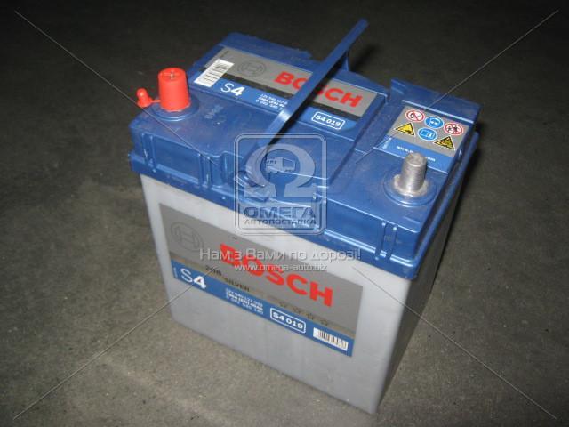 Аккумулятор 40Ah-12v BOSCH (S4019) (187x127x200),L,EN330 (Азия) тонк.клеммы