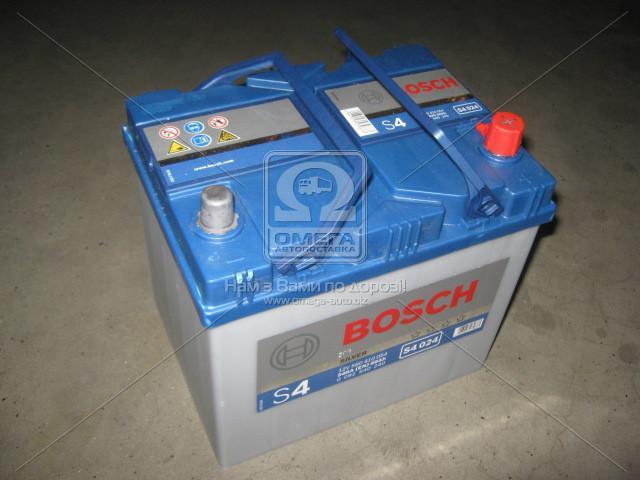 Аккумулятор 60Ah-12v BOSCH (S4024) (232x173x225),R,EN540(Азия)