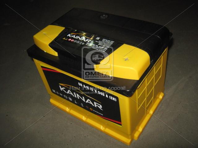 Аккумулятор 60Ah-12v KAINAR Standart+ (242х175х190),(L 1),EN540