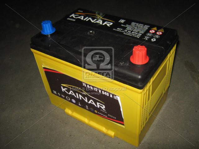 Аккумулятор 75Ah-12v KAINAR Asia (258x173x220),(0 R),EN640