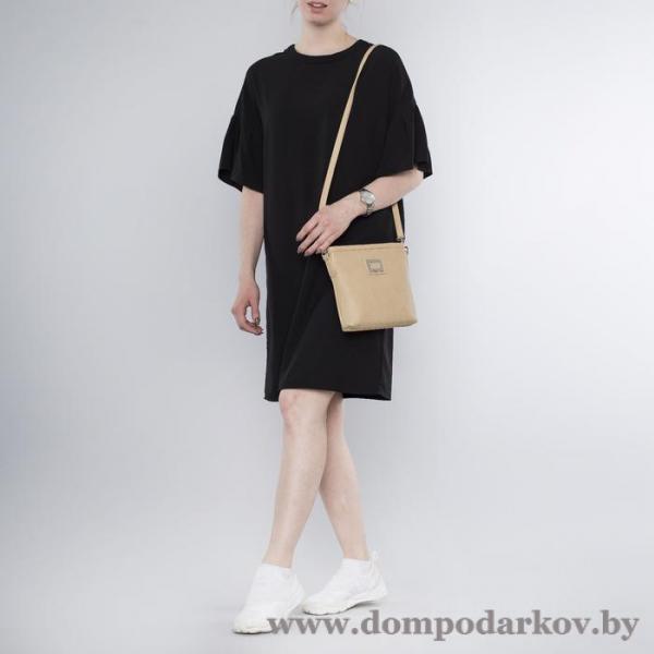 Фото ПОСМОТРЕТЬ ВЕСЬ КАТАЛОГ, Галантерея, Сумки женские  Сумка женская, 2 отдела на молнии, наружный карман, длинный ремень, цвет бежевый