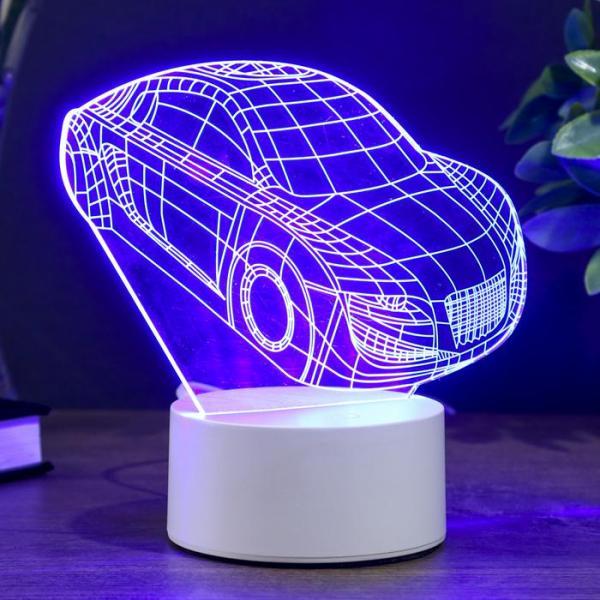 """Светильник """"Авто"""" LED RGB от сети 10,5x13x20,5 см"""