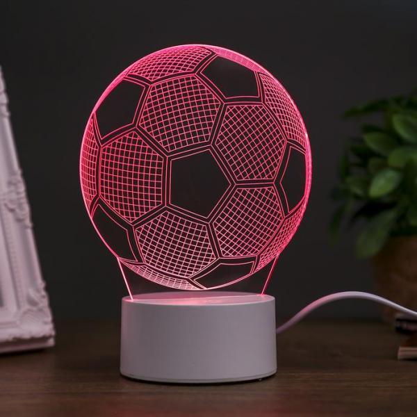 """Светильник """"Футбольный мяч"""" LED RGB от сети 10,5x13x20,5 см"""