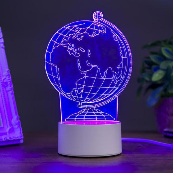"""Светильник """"Глобус"""" LED RGB от сети 10,5x13x20,5 см"""