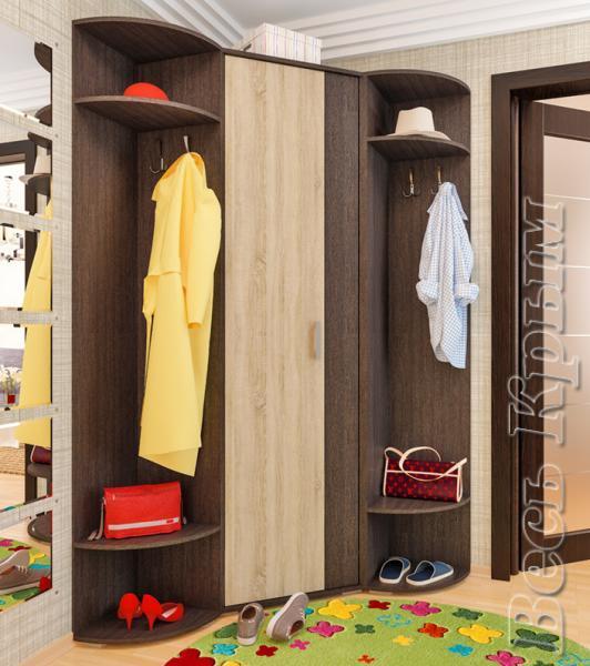 Пирамида-Угловой шкаф АВРОРА Мебель для прихожих в Крыму