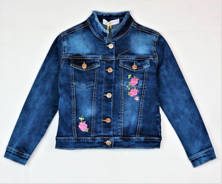 Модный джинсовый пиджак 6-16 лет